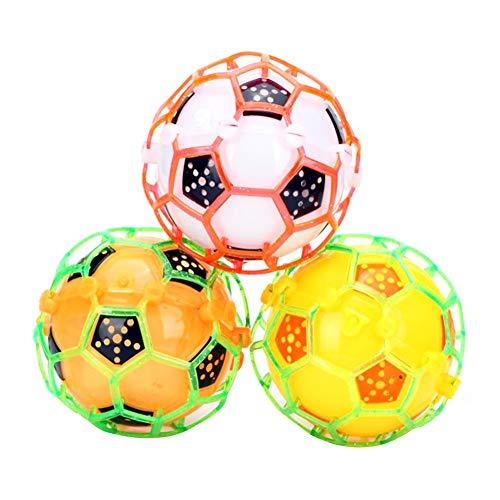 AAGOOD Verrückte elektrischer Fußball Farbe zufällig 1 Packung (ohne Batterie) Kinder Biorhythm elektrisch LED Flashing Musik Footb