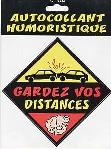 AUTOCOLLANT HUMORISTIQUE GARDER VOS DISTANCES