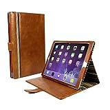 Alston Craig Vintage Vintage Echt Leder Hülle Tasche [Mit Schlaf-Funktion, Klappständer] Für Apple iPad Pro 9.7/iPad Air 2 - Braun