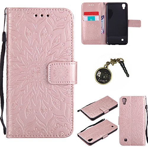 Preisvergleich Produktbild PU Silikon Schutzhülle Handyhülle Painted pc case cover hülle Handy-Fall-Haut Shell Abdeckungen für LG X Power (13,5 cm (5,3 Zoll) hülle +Staubstecker (3FF)