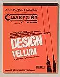 Clearprint 1000h Design Pergamentpapier Pad, 16Lb., 100% Baumwolle, 8–1/5,1x 27,9cm, 50Blatt, weiß transluzent, je 1(10001410)