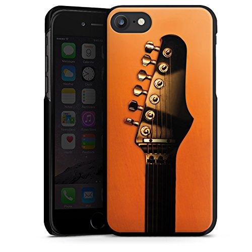 Apple iPhone X Silikon Hülle Case Schutzhülle Gitarre Saiten Instrument Hard Case schwarz