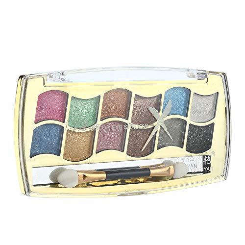 Quaan-Schönheit Quann 12 Farben Lidschatten Strukturiert Pallete Konfrontiert Matt Perle Bilden Auge Schatten Kosmetik Bilden Neutral Akte Warm