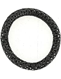 The Olivia Collection Anthracite-Grey Maximum Metal 8mm Elasticated Bracelet