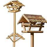 Vogelhaus Vogelhäuschen Futterstation Futterhaus mit Ständer -Bambusdach