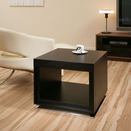 Modern Side Table/Tables for Eating/Laptop Chrome Grey Glass Stainless