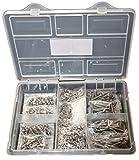 Linsenkopfschrauben-Sortiment Innensechskant ISO 7380 M4 4x4 4x6 4x10 4x16 4x20 4x25 4x30 4x35 mix Edelstahl 750 Teile inkl. Sechskantmuttern, Unterlegscheiben Edelstahl/Polyamid, Federringe