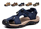 Sports Outdoor Sandals Summer Men's Beach Shoes Leather Casual Breathable Non-Slip Hiking Walking