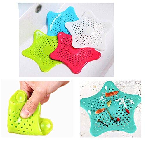 4 Stück Silikon Abflusssieb Dusche Küche Spüle Badewanne Haarsieb