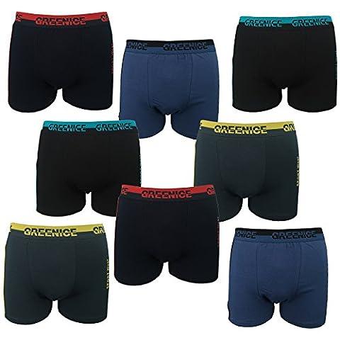 2-4-5-6-9-12er Pack Boxershorts Baumwolle Retroshorts Herren Sport Wear Unterhose GREENICE Underwear M L XL XXL XXXL (XXXL,