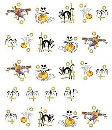 CM Nail Art manucure Stickers Ongles décalcomanie Scrapbooking: Déco Halloween fantômes citrouilles Chats