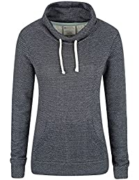 Mountain Warehouse Bramberling Womens Hoodie - Cowl Neck Ladies Sweatshirt, Kangaroo Pocket, Combed Cotton Spring Jacket, Easy Care - For Summer Travelling, Daily Use