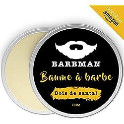 BARBMAN : Bálsamo de Barba (100ml) enriquecido con aceite de Jojoba y manteca de cacao para hidratar y nutrir pieles y barbas. Arregla la barba aportándole brillo y suavidad. Regalo para barbudos.
