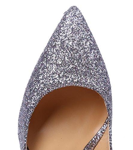 Guoar - Scarpe chiuse Donna Argento (argento)