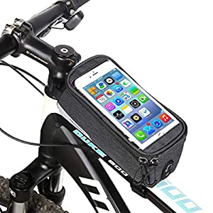 """Tricodale Bolsa Bicicleta Cuadro, 6.3"""" Bolso Manillar Bici Impermeable Bolsa Tubo Bicicleta, Bolsa Móvil Bicicleta Pantalla Táctil para Bicicleta Montaña o Carretera"""
