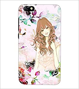 Printdhaba Sketch Girl D-1021 Back Case Cover For Huawei Honor 4X