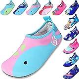 SITAILE Bambini Ragazze Scarpe da Mare Scarpette di Aqua da Surf da Spiaggia per Sportive Acquatici Scarpe da Immersione,Rosa,eu20-21