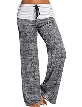 Nimpansa Mujer Amplia Piernas Pantalones De Yoga Pantalones Cintura con Cordón del Casaul
