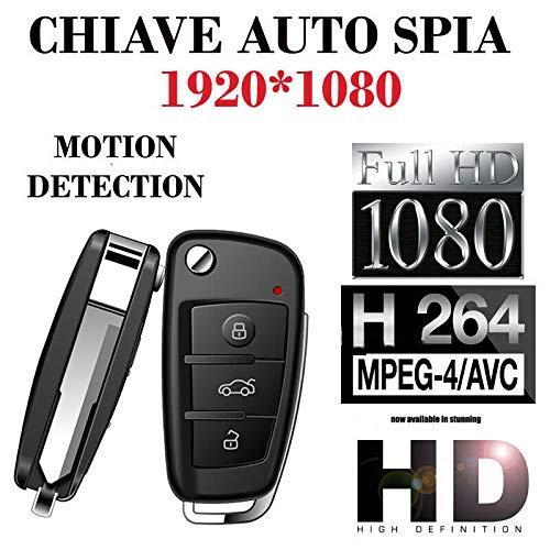 Mini telecamera spia micro camera microcamera nascosta chiave auto portachiavi con micro sd 16 gb