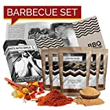 Set regalo per barbecue | Set regalo barbecue con strofinacci barbecue e idea regalo pepe bistecca per uomo amico | Compleanno Spice Set BBQ Gift Box