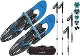 SkinStar Schneeschuh 25 INCH Schneeschuhwandern Schneeschuhe bis 100 kg...