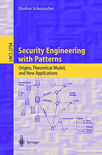 Security Engineering with Patterns: Origins, Theoretical Models, and New Applications (Lecture Notes in Computer Science)