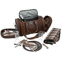 Inspirion 600519- Bolsa de picnic con vajilla para 4personas