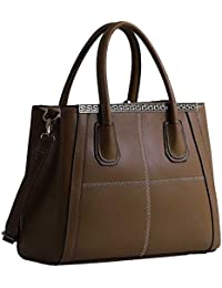 Tote Bag For Women Ladies Celebrity Style Faux Leather Top Handle Handbags