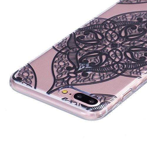 iPhone 7 PLUS Hülle, Cozy Hut ® [Liquid Crystal] [Ultra Dünn] Bumper-Style Premium-TPU / Sehr Leicht / Perfekte Passform / Durchsichtiges Soft-Case Schutzhülle für Apple iPhone 7 PLUS (5.5 zoll), Appl Black Love