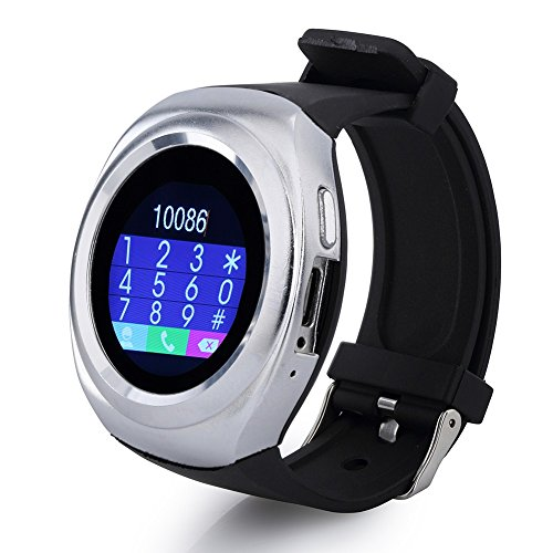 GIONEE E7 MINI Compatible Bluetooth Smartwatch With Sim & Tf Card Support With Apps Like Facebook And Whatsapp Touch Screen Multilanguage Android / Ios Mobile Phone Wrist Watch Phone With Activity Trackers And Fitness Band BY JiyanshiSupported Devices -BY Jiyanshi  available at amazon for Rs.1999