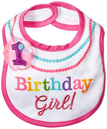 Amscan International 430505Lätzchen aus Stoff in Regenbogenfarben zum 1. Geburtstag von Mädchen