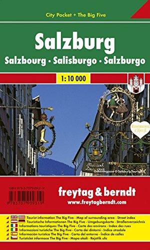 Salzburgo, plano callejero palstificado. Escala 1:10.000. Freytag & Berndt. por VV.AA.