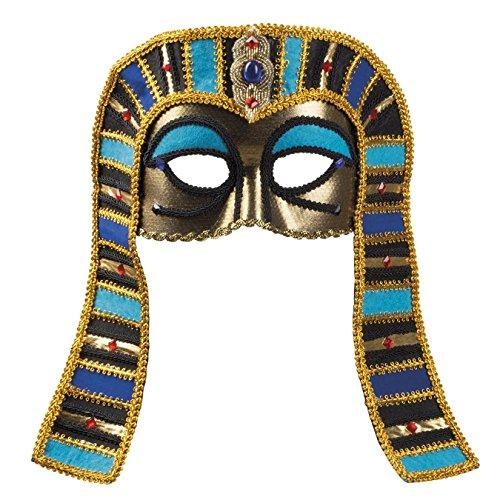 Boland 00267 Augenmaske Tutanchamun, One Size (König Pharao Kostüm)