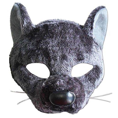Bristol Novelty Ratten Eye Maske mit Sound auf, Kopfband, Stoff, Polyester, Baumwolle, PET, IC, mehrfarbig, one size