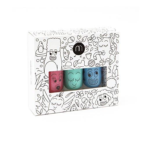 box-of-3-bottles-of-nail-polish-removers-nailmatic-kids-jungle-top-coat-green-blue