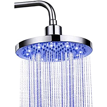 Search For Flights Colorful Led Shower Head Changing Shower Head No Battery Led Waterfall Shower Head Round Showerhead 7-color Bathroom Accessories Shower Equipment