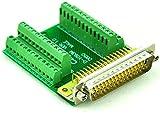 Electronics-Salon Slim rechts Winkel D 'sub DB50 Stecker Header Breakout Board Modul, TERMINAL BLOCK DSUB Stecker.