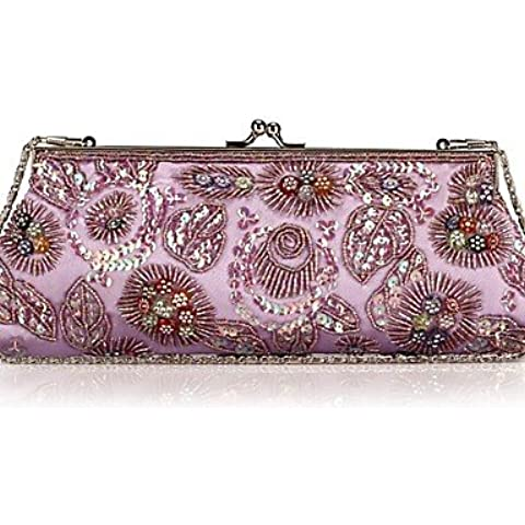Da Wu Jia Ladies borsetta di alta qualità delle donne di lusso elegante high-grade bordati da ricamo Borsa serale , blu