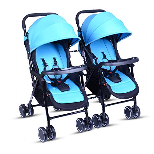 Twin Trittbrett (Unbekannt Tragbare Twin Baby-Zwillinge können sitzen und Sich zurücklehnen. Leichter, zusammenklappbarer, Abnehmbarer, ultraleichter Stoßdämpferwagen,C)