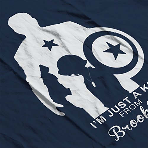 Avengers Captain America Just A Kid From Brooklyn Women's Vest Navy Blue
