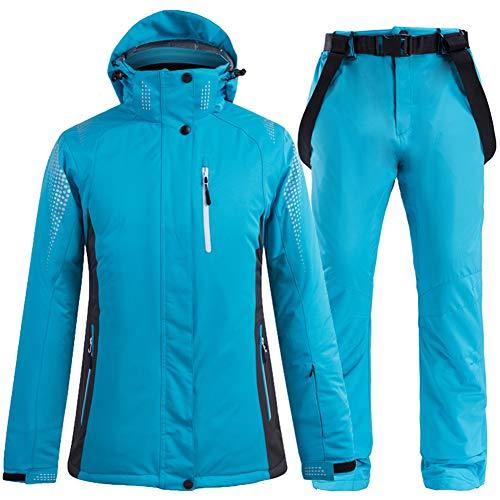 GITVIENAR Skianzug Herren und Damen, Schneeanzug 2tlg Skijacke Skihose mit Hosenträger Ski Jacke Hose Wanderjacke Regenjacke Verdickte Schneekleidung Wasserdicht Winddicht Skibekleidung Outdoor