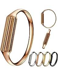 KOBWA Armband für Fitbit Flex 2 Art- und Weisezusatz Armband für Fitbit Flex 2 Rose Golden