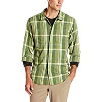 Exofficio BugsAway Talisman Plaid L/S Camisa Anti-Insectos, Hombre, Olive,