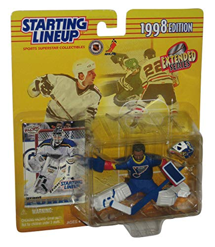 GRANT FUHR / ST. LOUIS BLUES 1998 NHL Starting Lineup Action Figure & Exclusive Collector Trading Card -