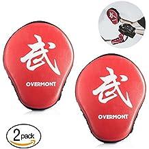 Overmont Paos de Cuero PU Muay Thai Kick Manoplas Boxeo Almohadilla de Entrenamiento de Boxeo Boxing Artes Marciales taekwondo karate judo Jiu-jitsu brasileño