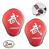 Overmont 1 Paar PU Handpratzen Boxing Pad Trainerpratzen für Kickboxen