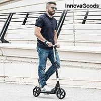 InnovaGoods ig115984Trottinette Pliable, Unisexe Adulte, Noir, Taille Unique