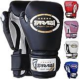 Enfants gants de boxe sparring, Junior MMA muay thai gants de kickboxing poinçonnage des mitaines de formation de sac 4 onces par Farabi (noir)