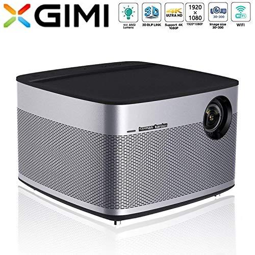 XGIMI H1 HD Beamer 1080P 900 ANSI Lumen 3D Smart LED Projektor Heimkino mit Harman Kardon Lautsprecher Android System Support 4K Lampe Lebensdauer bis 50,00 0 Stunden (H1 Led-projektor-lampe)