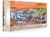 XXL-Tapeten Leinwandbild Graffiti - Fertig Aufgespannt - Gemälde, Kunstdruck, Wandbild, Keilrahmen, Bild auf Leinwand von Trendwände - Format: 60x40cm, Standard: Polyester-Leinwand 2cm Rahmen
